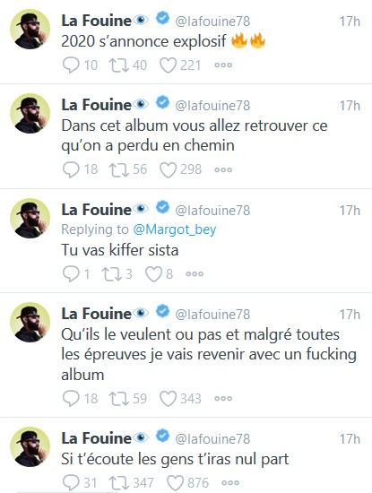 les derniers tweets de La Fouine